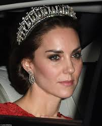 kate middleton wedding tiara kate middleton dons diana s favourite tiara from garrard jewellers