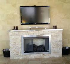 Fake Outdoor Fireplace - gas fireplace fake log replacement options custom outdoor desa