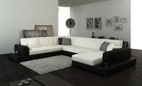 Black Fabric Sectional Sofas Black And White Sectional Sofas 1025theparty