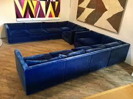 blue velvet sectional sofa blue velvet sectional sofa espan us
