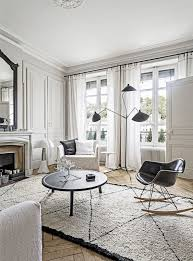 decordemon monochrome french style city apartment