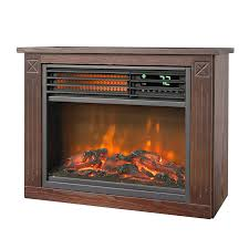 amazon com lifesmart large room infrared quartz fireplace in amazon com lifesmart large room infrared quartz fireplace in burnished oak finish w remote home kitchen
