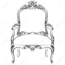 royal baroque vector classic chair furniture with luxury acanthus