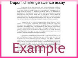 Challenge Science Dupont Challenge Science Essay Competition 2012 Research Paper Help