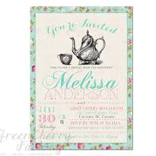 Wedding Poster Template Free Tea Party Invitation Templates Orax Info