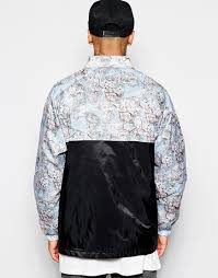 World Map T Shirt by Hype Coach Jacket With World Map Print In Blue For Men Lyst