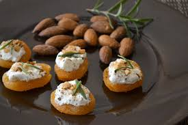 goats cheese canape recipes apricot goat cheese canapés recipe goat cheese goats and almonds