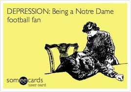 Notre Dame Football Memes - depression being a notre dame football fan words of wisdom