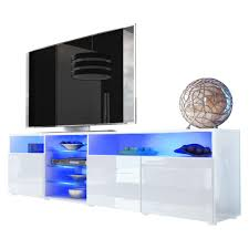 tv stand unit granada v2 carcass in white high gloss front in