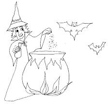 coloriage d u0027halloween sorcière au chaudron halloween tête à