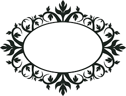 clipart ornament oval frame