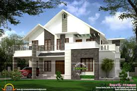 Modern House Roof Design by Square Feet Sloped Roof Villa Kerala Home Design And Floor Plans