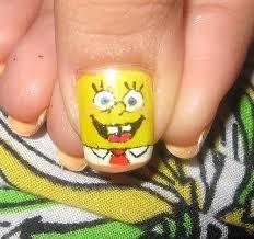 spongebob squarepants nail art close up weee spongebob s u2026 flickr
