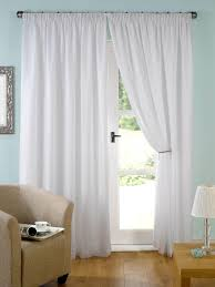 Plain White Curtains Cotton Voile Curtains Uk Gopelling Net