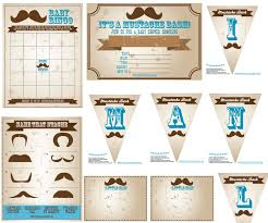 baby shower mustache free baby shower mustache bash printable theme for the