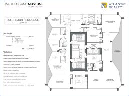 Museum Floor Plan 1000 Museum New Miami Florida Beach Homes