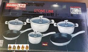 batterie de cuisine en stoneline batterie de cuisine en 10 pcs marmite poele casserole inox