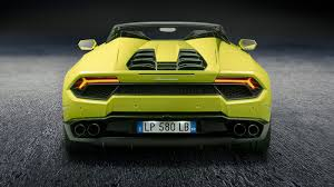 lamborghini back view lamborghini huracan spyder goes rear wheel drive for 2017 by car