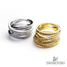swarovski rings gold images Rosso bianco same day delivery swarovski swarovski spiral ring jpg