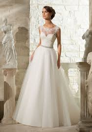 wedding dress style lace appliques on soft tulle morilee wedding dress style 5315