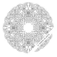 detailed coloring pages adults deer ox mandalas