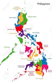 Map Of Phillipines Map Of Administrative Divisions Of Philippines Royalty Free
