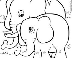 baby elephant colouring pages baby elephant coloring