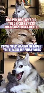Puma Pants Meme - bad pun dog s friend puma imgflip