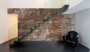 decorative fake exposed brick wall design homedees attractive