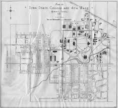 Iowa State Campus Map by 1929 Isc Student Directory Ames Historical Society