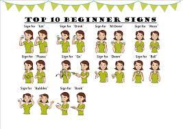 Sign Language Printable Worksheets Baby Sign Language Chart Colorful Loving Printable
