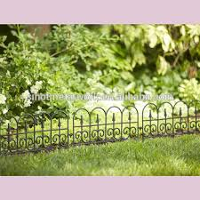 decorative metal lawn edging fence ideas vintage wrought iron