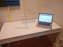 Monitor Stands For Desks Triple Monitors On Ikea Alex Desk Displays Linus Tech Tips