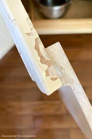 how to fix cabinet bottom how to touch up chipped cabinets with a paint pen