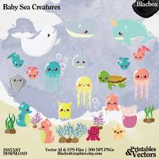 baby sea creatures clipart under the sea clipart ocean