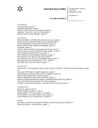 Accomplishment Examples For Resume by Assignment 5 U2013 Sara Humel