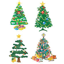 decorated christmas tree templates vector free stock vector art