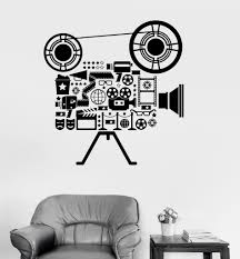 vinyl wall decal film cinema movie camera filming art room vinyl wall decal film cinema movie camera filming art room stickers ig3151