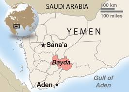 where is yemen on the map s up bombing in yemen signals more aggressive use of