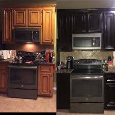 how to use minwax gel stain on kitchen cabinets before and after using gel stain only needed one coat and