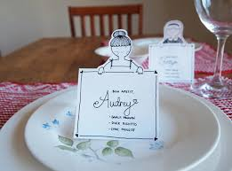 diy place cards diy place cards with personalized characters design is yay