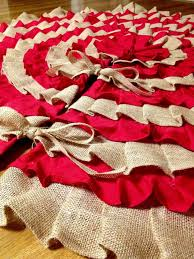 burlap tree skirt top 25 diy christmas tree skirts christmas celebrations