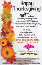 thanksgiving turkey giveaway 2017 market city shopping center