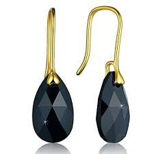 gold teardrop earrings voila reve sterling silver earrings gold plated silver