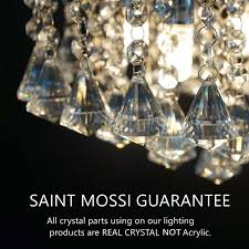 Glass Droplet Ceiling Light by Saint Mossi Chandelier Modern K9 Crystal Raindrop Chandelier