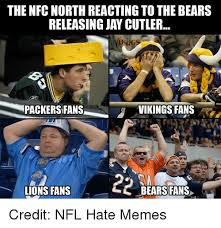 Bears Packers Meme - the nfc north reacting to the bears releasing jay cutler packers