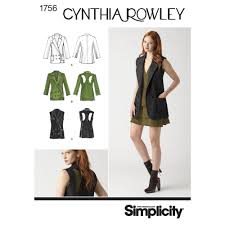 pattern for misses u0027 jacket cynthia rowley collection simplicity