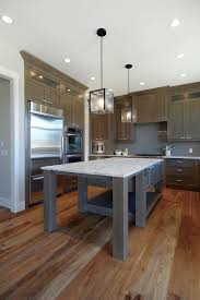 hickory grey stained kitchen cabinets grey stained kitchen contemporary kitchen calgary by
