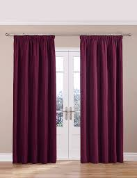 Marks And Spencer Kids Curtains Chenille Thinsulate Pencil Pleat Curtains M U0026s