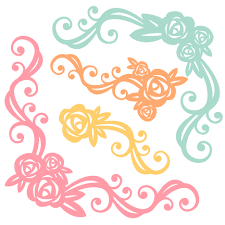 Flower Design For Scrapbook 160330 Freebie Of The Day Flower Flourish Set Svg Scrapbook Cut